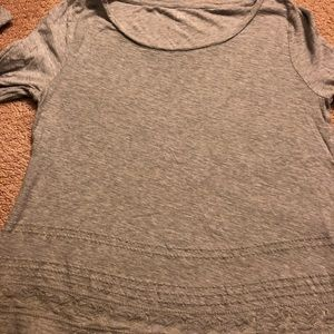 Grey top with long sleeves